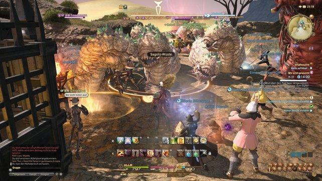 In den FATEs kämpft ihr mit anderen Spielern häufig gegen Massen von Monstern.