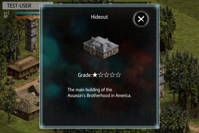 Der Unterschlupf: Das Hauptgebäude der Assassine.