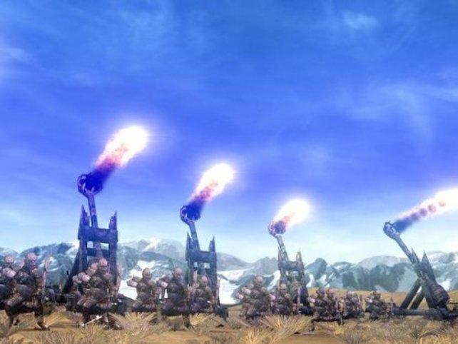Gegen die Katapulte der Orcs ist nicht mal die stärkste Festung sicher.
