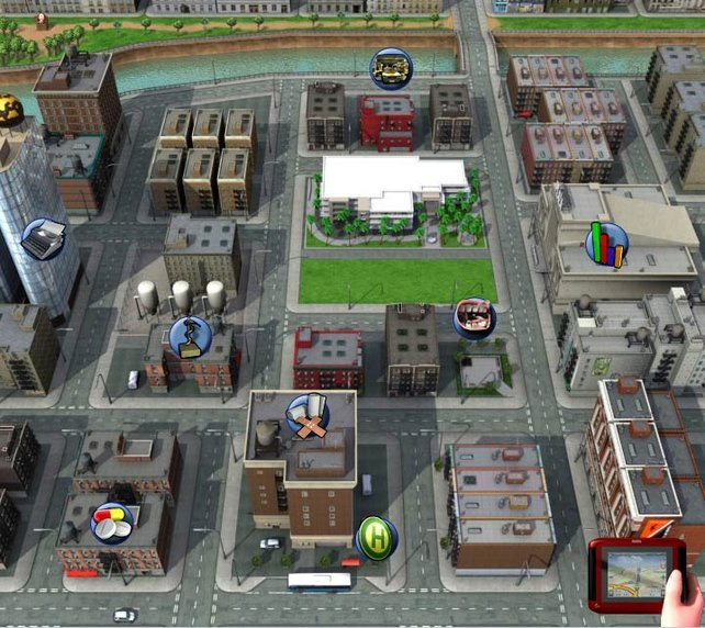 Die Stadt, aka Übersichtskarte: euer Hauptarbeitsplatz.