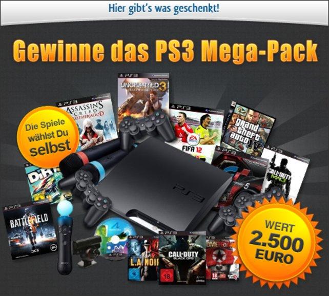 Von 0 auf 100: Mit dem PS3-Megapaket bekommt ihr eine PS3 samt Spielesammlung eurer Wahl.