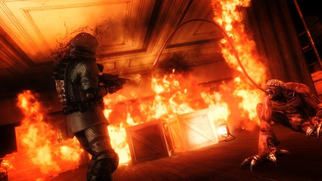 Dumm: Die künstliche Intelligenz läuft mitunter in Flammenwände, Minen oder Laserbarrieren.