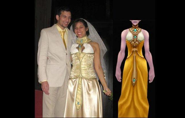 Online-Rollenspiele sind wahre Single-Börsen, wie das frisch getraute Ehepaar auf dem Bild beweist.