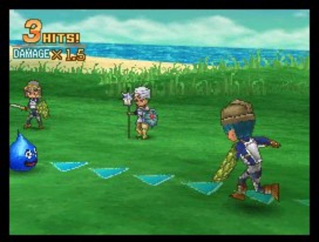 Dragon Quest bietet klassische Rollenspielkost mit rundenbasierten Kämpfen in putziger Grafik.