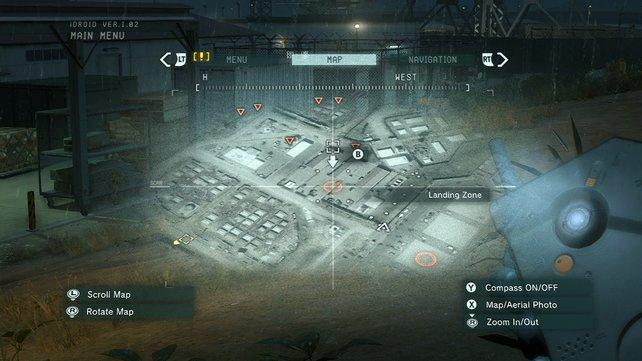 Die Karte zeigt euch markierte Feindbewegungen an.