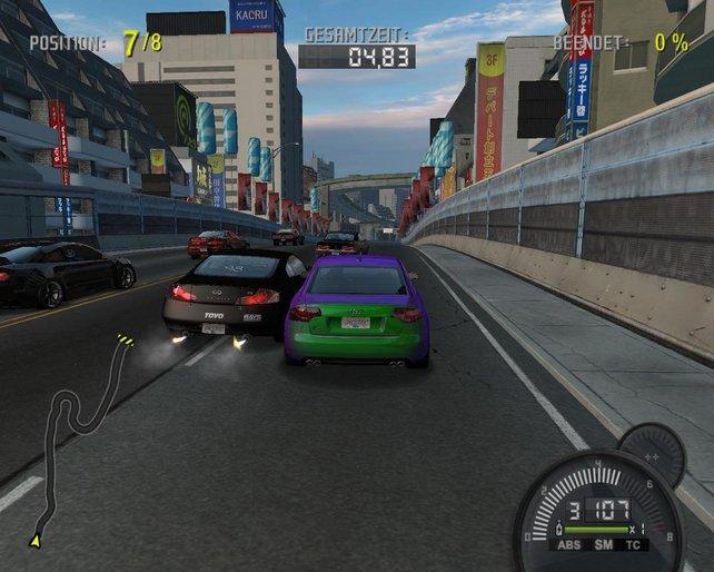 Mit meinem aufgemotzten A4  nehme ich an einem Speed Challange teil