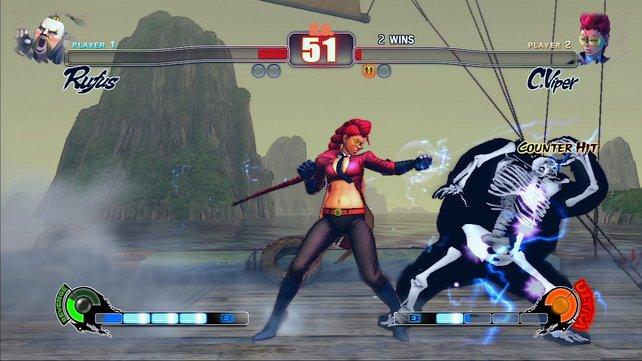 Die neue Figur C.Viper hat einige hinterhältige Special-Moves drauf.