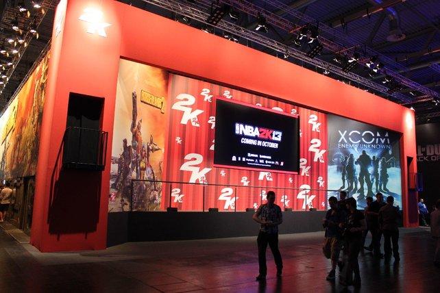 Ganz in Rot glänzt 2K Games mit Borderlands 2 und Xcom.