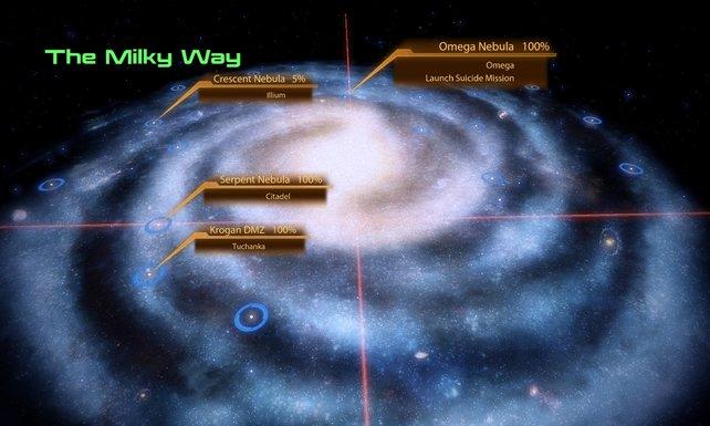 Unendliche Weiten: Die Milchstraße ist größer geworden und kann frei erkundet werden.