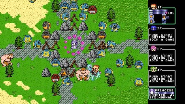 Schützt die Prinzessin vor den Monsterhorden!
