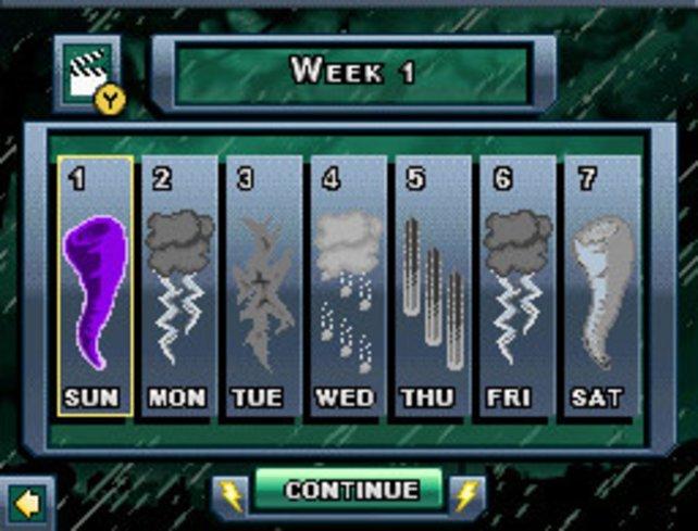 Das Wetter für nächste Woche... Äh... Ich muss los.