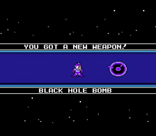 """""""Galaxy Man"""" hinterlässt euch eine Waffe, mit der sich schwarze Löcher erzeugen lassen."""