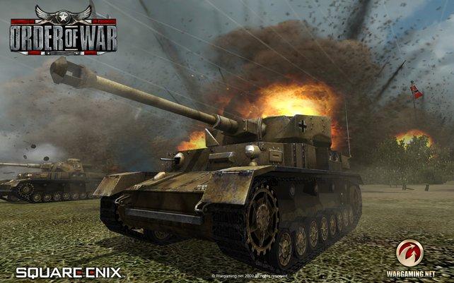 So sieht ein deutscher Panzer kurz vor seiner Explosion aus...