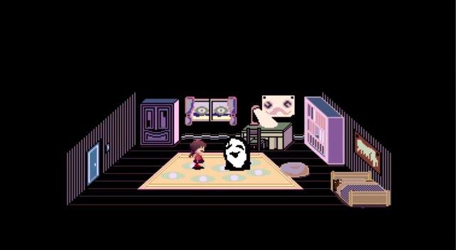 Eine der bekanntesten Szenen in Yume Nikki ist die Beschwörung von Uboa, die meist auf Glück basiert.