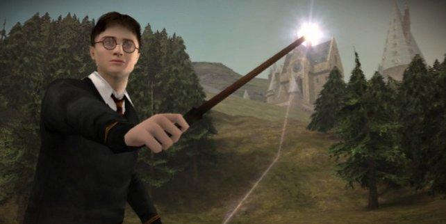 Immer einen Stab dabei: Harry muss sich häufig mit Zaubern verteidigen.