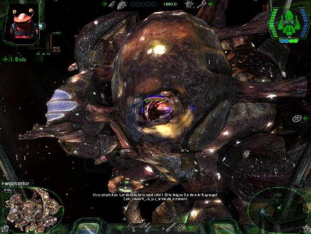 Eine Raumstation der Octopus-Rasse Octo...
