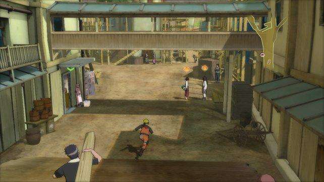 Nach dem Angriff von Pain bauen die Dorfbewohner Konoha neu auf.