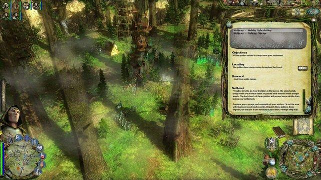 Wählt ihr die Elfen, errichtet ihr euer Lager im Wald auf Baumwipfeln.