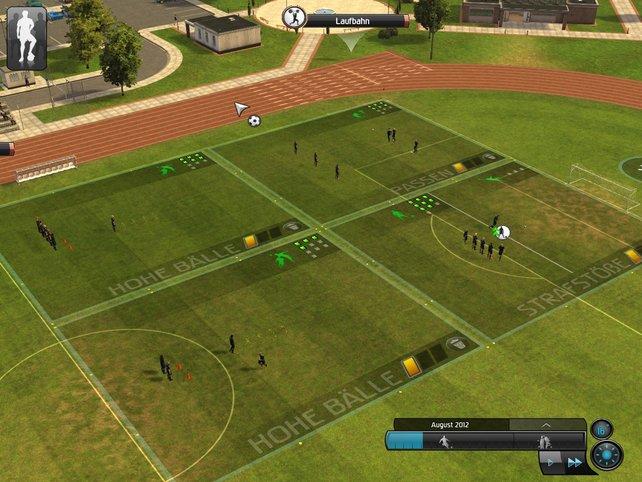 Per Mausklick teilt ihr euren Spielern bestimmte Übungseinheiten zu.