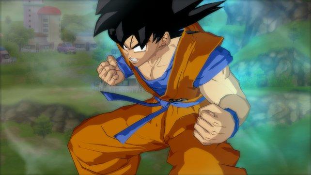 Ihr spielt Son-Goku, die Hauptrolle der Anime Serie.