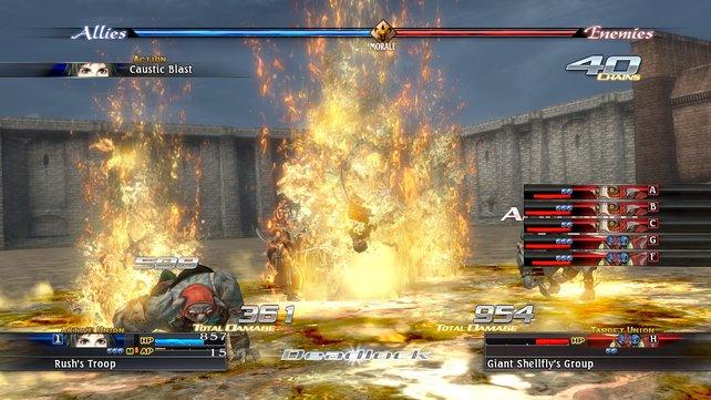 Hier ist unser Pyromane am Werk: Rush zeigt seine Affinität zu Feuer.