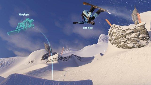 Im Mehrspielermodus namens Rider-Net erscheinen eure Gegner als Geisterspuren.