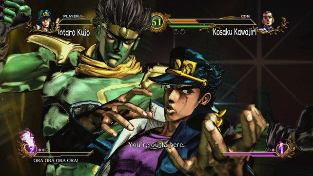 Jotaro Kujo und sein Stand.