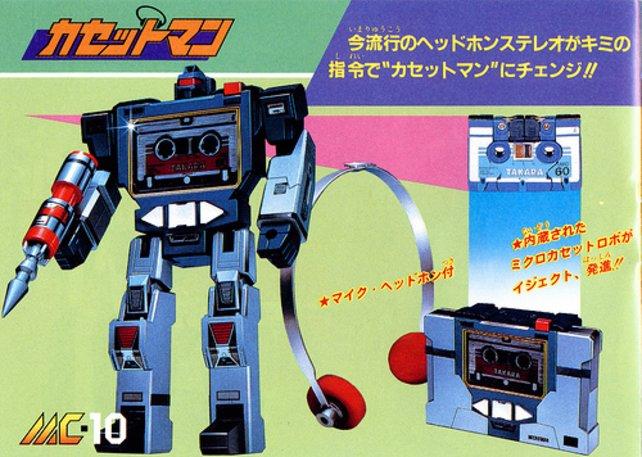 Eine MicroChange-Figur macht sich nützlich als Kassettenrekorder.
