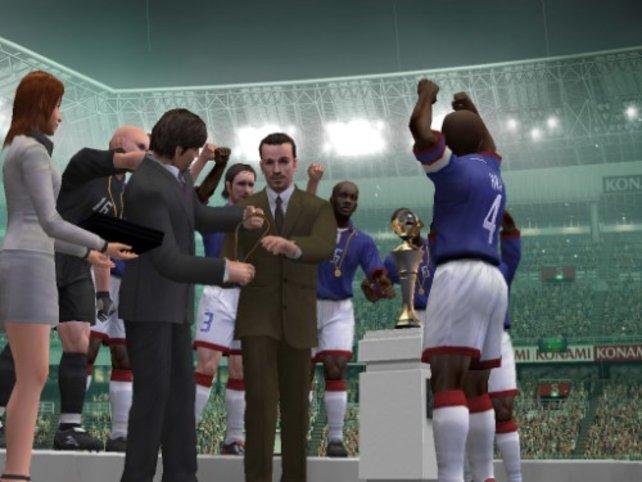 Die Siegerehrung nach dem Gewinn eines Pokals