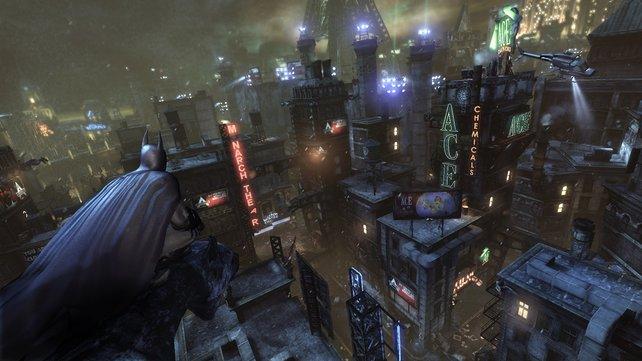 Die düstere Innenstadt Gothams dient nun als Gefängnis und Schauplatz.
