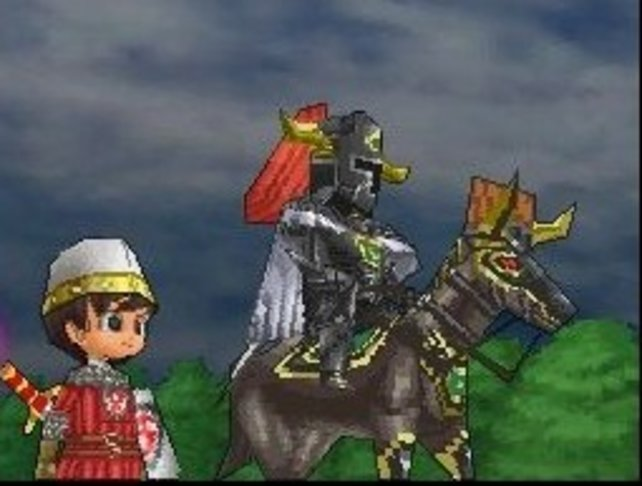 Der schwarze Ritter, zuerst ein Gegner, dem ihr später helft.