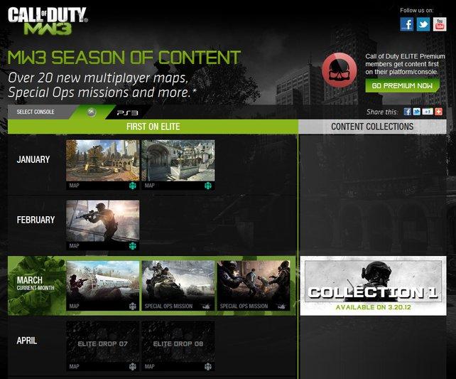 Die offizielle Download-Planung beinhaltet insgesamt 20 Karten und Missionen.