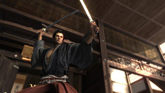 Kiryu ist im alten Japan bestens mit Schwertern vertraut.