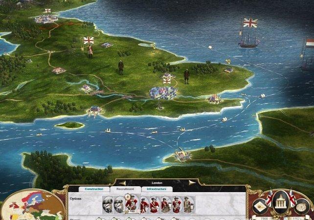Auf der Strategiekarte habt ihr euer Reich im Blick: Städte, Handelsrouten eigene Einheiten und Feinde.