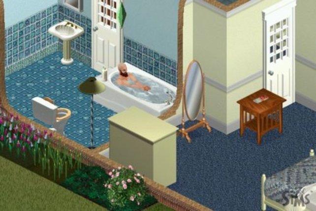 Ein Bad nach der Arbeit tut gut.