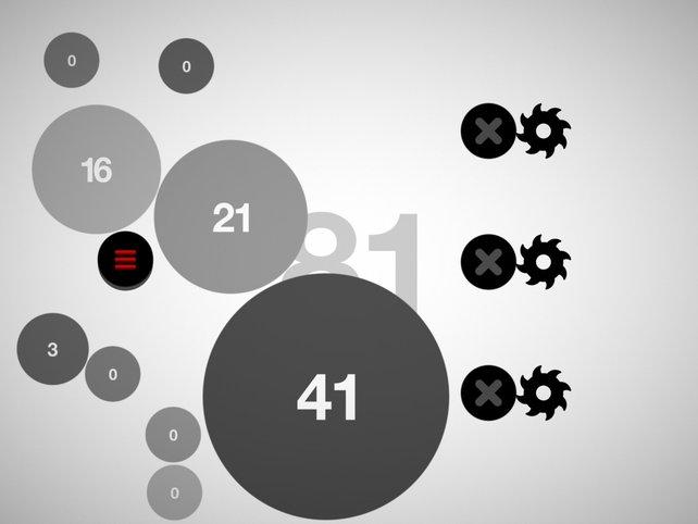 Gar nicht so einfach wie es scheint: Erreicht 100 Punkte durch Aufblähen der Kreise.