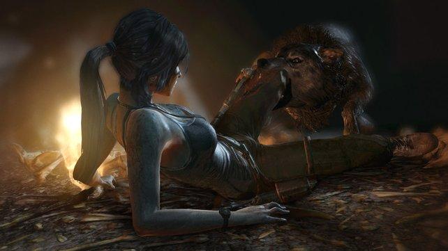 Das Hündchen will doch nur mit Laras Schuhen spielen. Oder doch nicht?