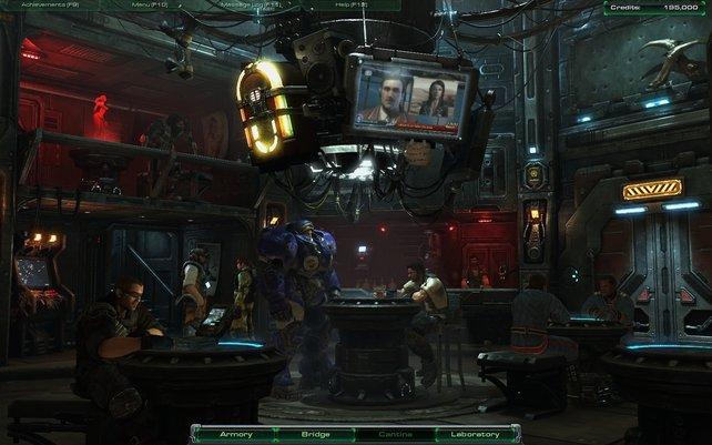 Die vier Räume der Hyperion - wie hier die Kantine - sind interaktiv.