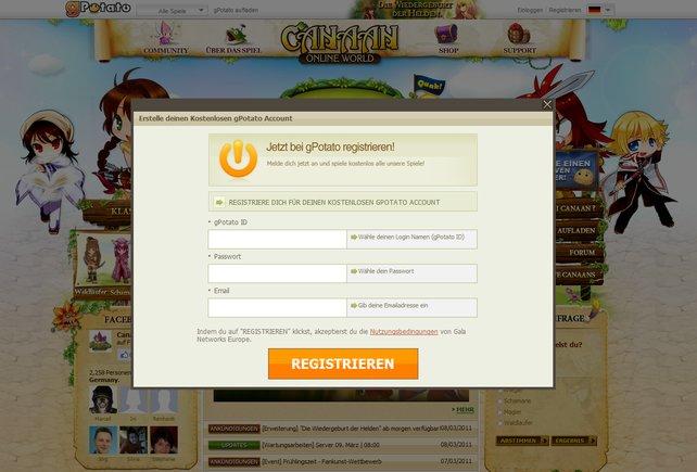 Für die Anmeldung ist vor allem ein sicheres Passwort von Bedeutung.