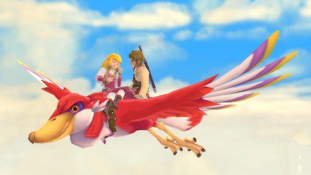 Noch ist die Welt in Ordnung und Link wagt einen Ausritt mit seiner Zelda.