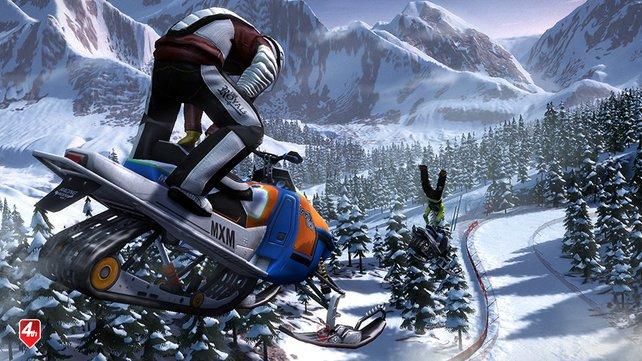 Vollgas im Schnee: Winter Games 2011 betont die Action.