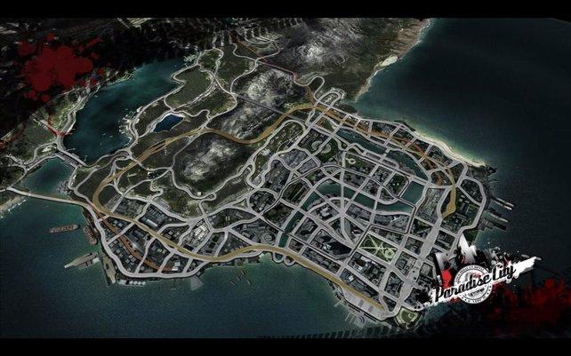 Paradise City aus der Luft.