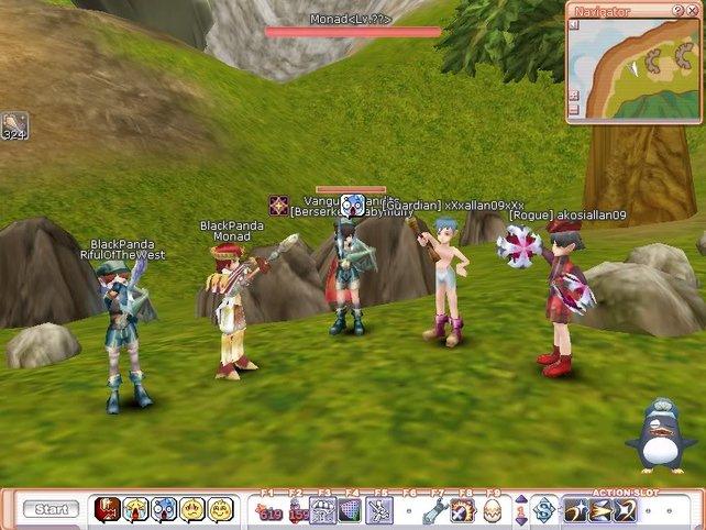 Erfahrene Spieler erkennt ihr an bunten Rüstungen und Pets.