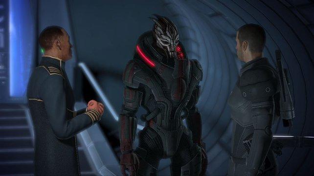 Solche kinoreif inszenierten Gespräche machen den Großteil des Spieles aus.