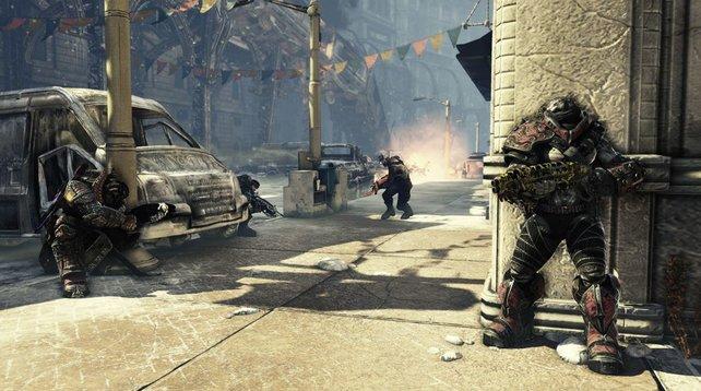 Gears of War 3 zählt zu den lokalen Koop-Spielen mit geteiltem Bildschirm.