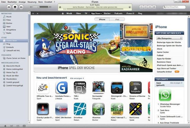 In iTunes durchstöbert ihr die riesige Spieleauswahl.