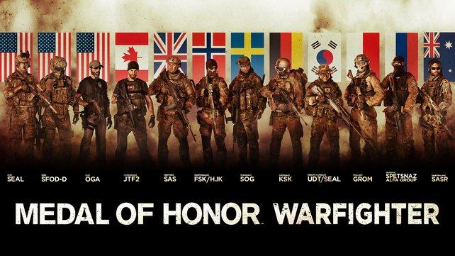 Im Mehrspieler-Modus wählt ihr aus einer von zwölf Spezialeinheiten euren Soldaten.