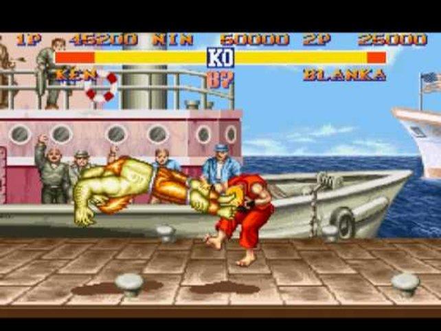 Zu damaliger Zeit war Street Fighter 2 eines der schicksten Spiele.