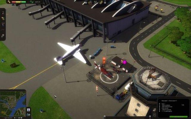 Flughäfen gehören zum Verkehrssystem (Cities in Motion).