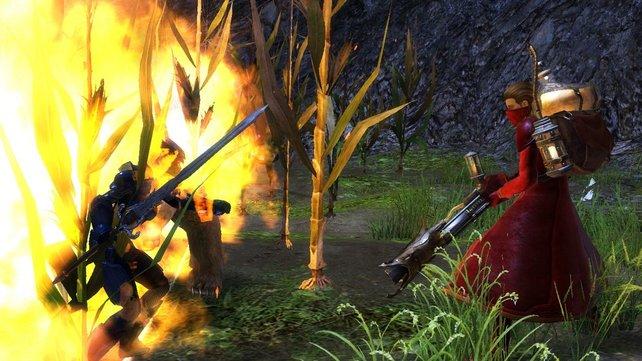 Der Ingenieur kämpft mit speziellen Waffen wie dem Flammenwerfer.